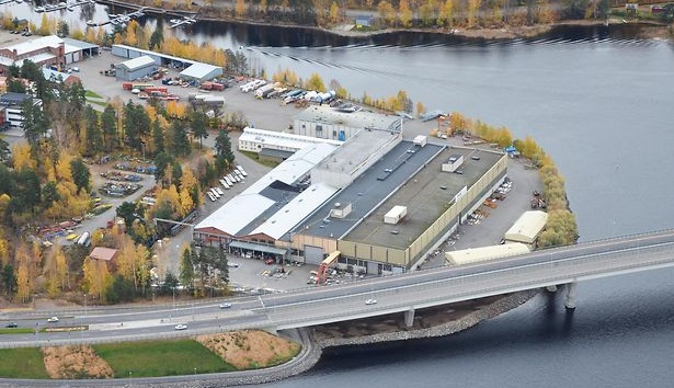 Savonlinna Works Oy aerial view by the Lake Saimaa